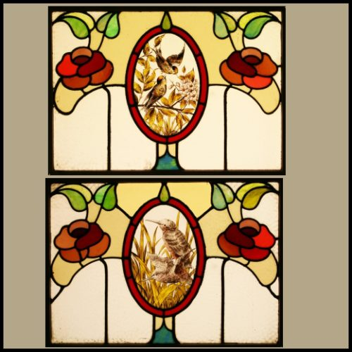art nouveau glass