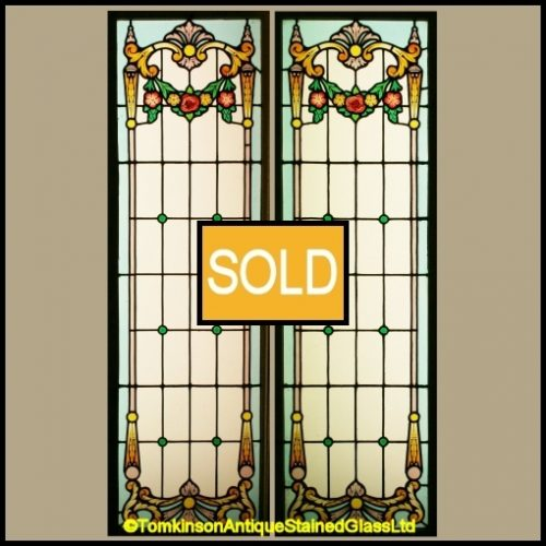Antique French Stained Glass Windows
