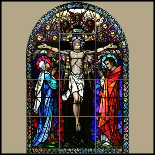 Church alter stained glass