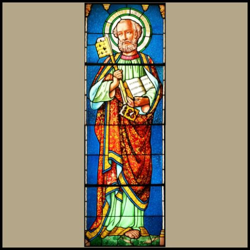 St Peter stained glass