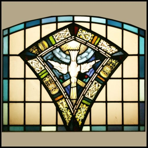 Dove of Peace stained glass