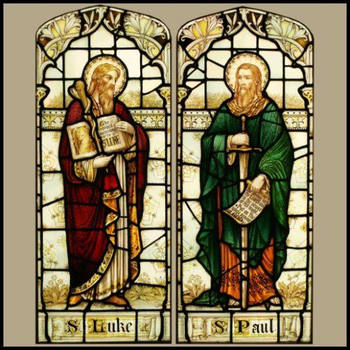 St Luke St Paul stained glass