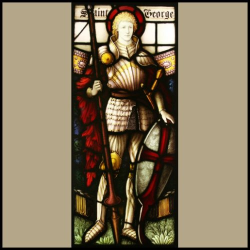 St George stained glass