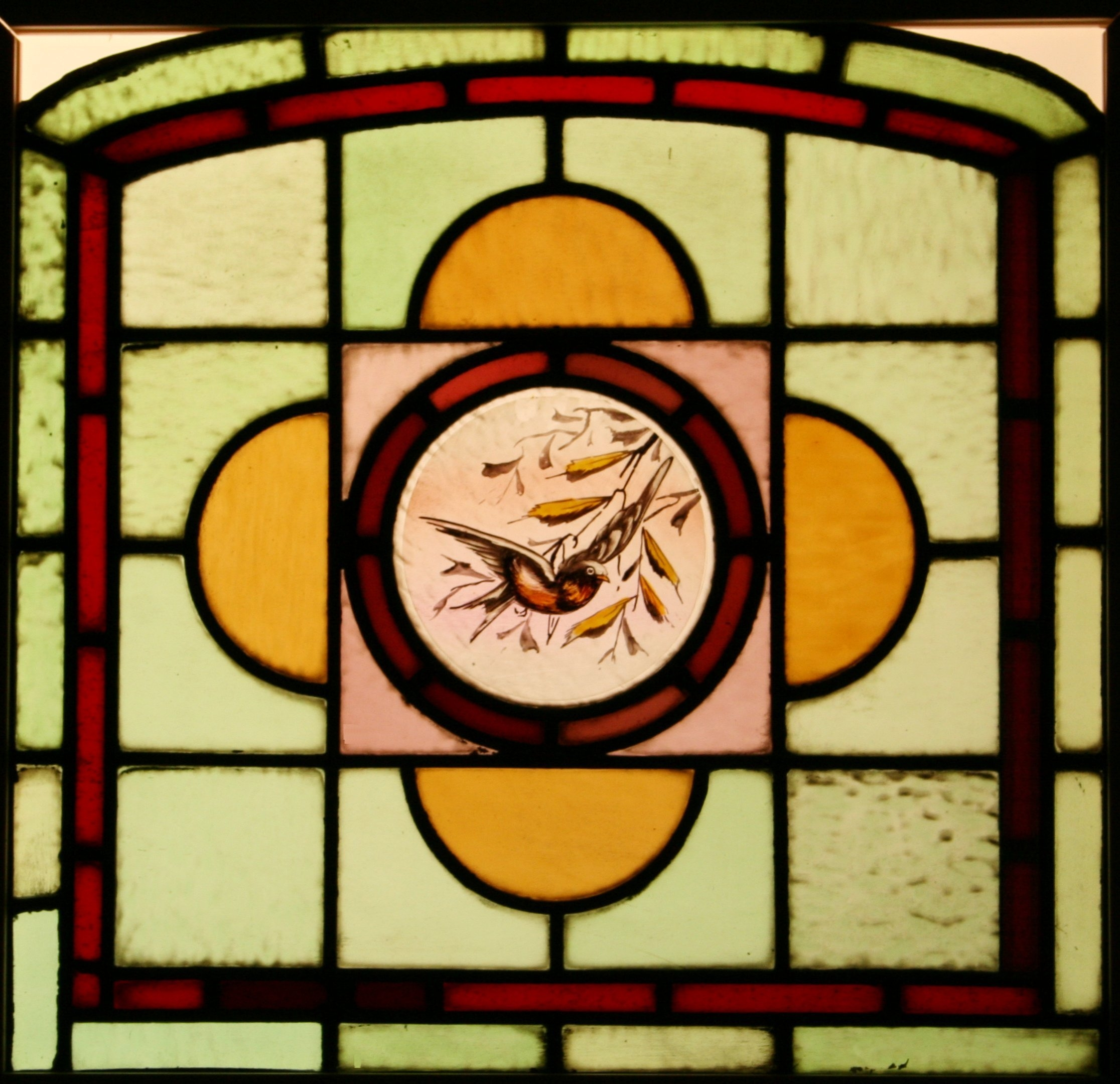 Ref Ed278 2 Edwardian Stained Glass Windows Quot Dicky