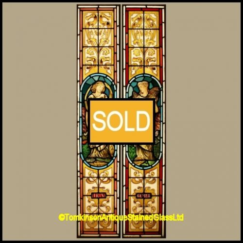 Antique Victorian Stained Glass Windows