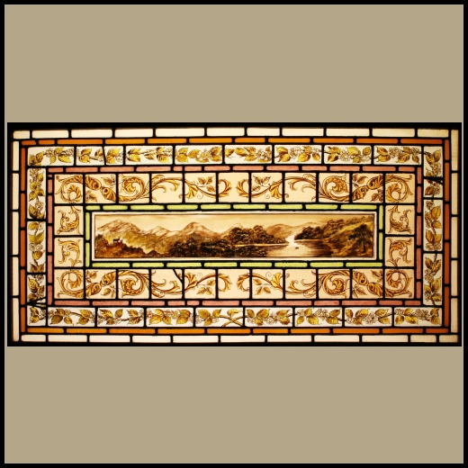 Ref Vic391 Antique Victorian Stained Glass Window