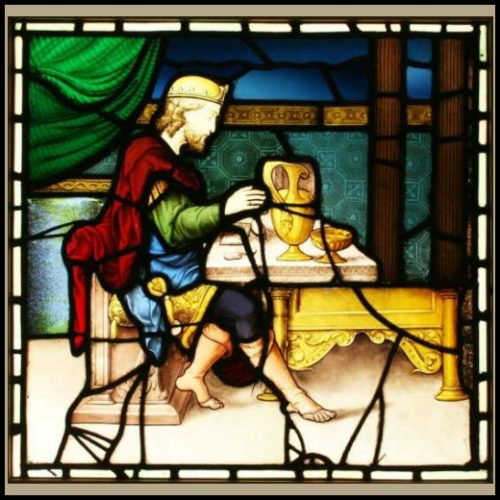 King John Stained glass