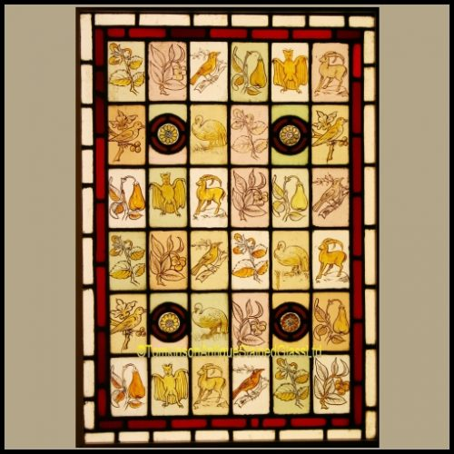Antique victorian stained glass