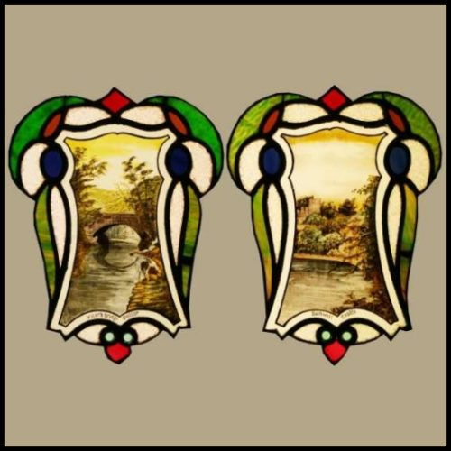 Edwardian Stained Glass Panels