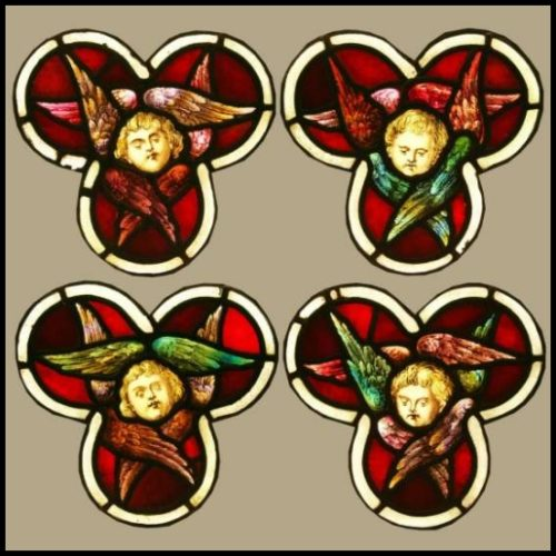 Seraphim Angels stained glass