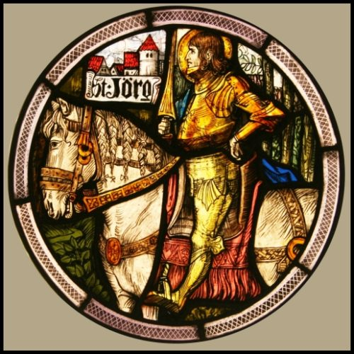 St Jorge stained glass