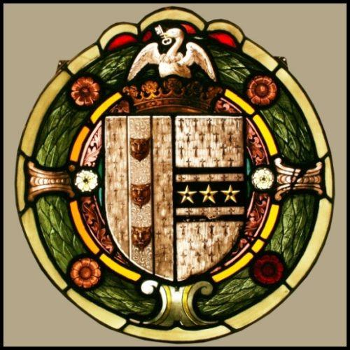 Heraldic stained glass