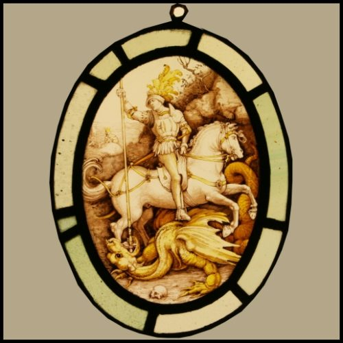 George & the Dragon stained glass