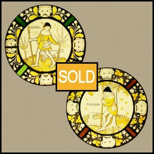Antique Roundels Stained Glass