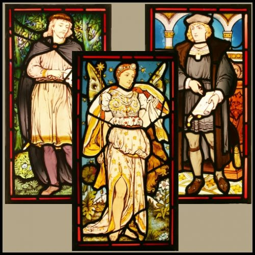 Shakespeare stained glass