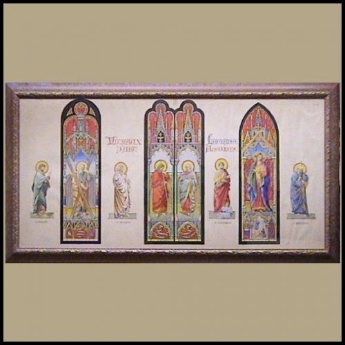 Saints watercolour