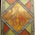 Aesop's Fables stained glass