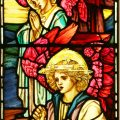 Stained glass angels