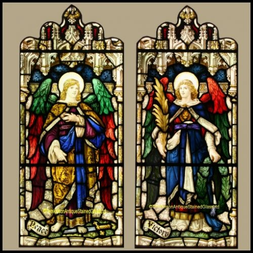 Angel stained glass windows