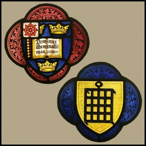 Armorial stained glass