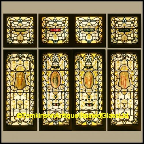 Set of Victorian Stained Glass Windows