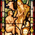 Adam & Eve Stained Glass Window