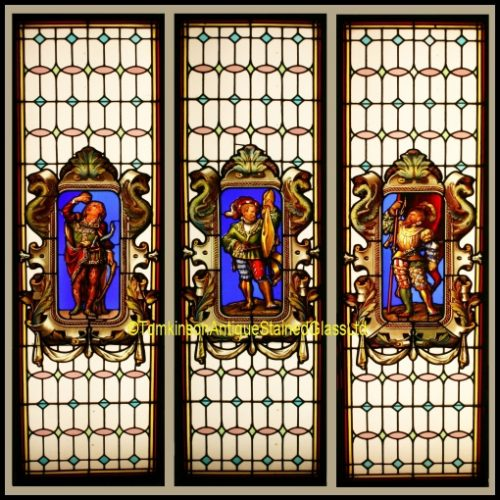Set of 3 Stained Glass Windows