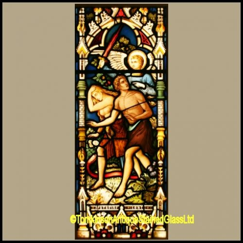 Adam & Eve Stained Glass