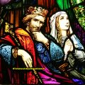 King & Queen stained glass