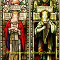 Solomon & King David stained glass