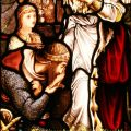 Guinevere & Lancelot Stained Glass
