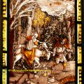 Flight Into Egypt stained glass