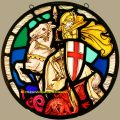St George and the Dragon stained glass
