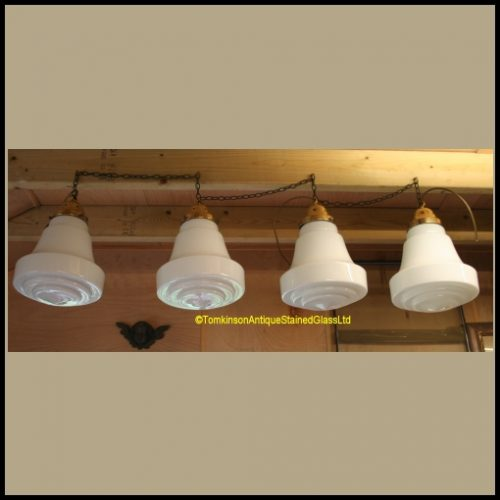 Opaline Glass Pendent Lights