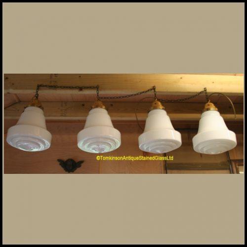 Opaline Glass Pendent Lights