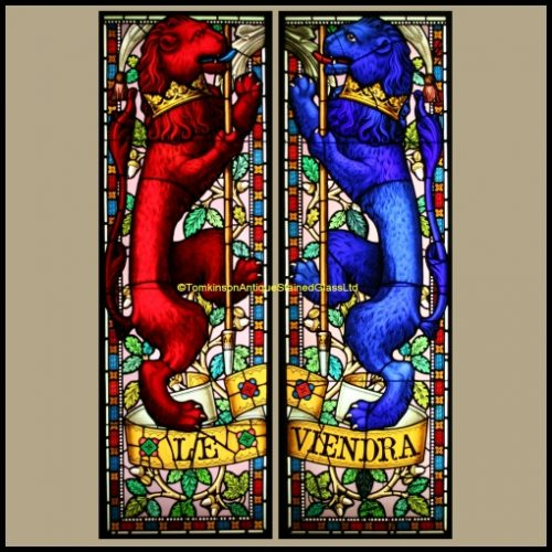 Rampant Lions Stained Glass