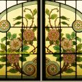 Antique French Stained Glass Doors