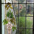 Antique Stained Glass French Doors