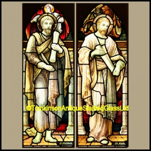 St Matthew, St Mark church windows