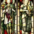 St Maurice, St Cecilia stained glass windows