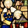 Mary and Joseph Stained Glass Window