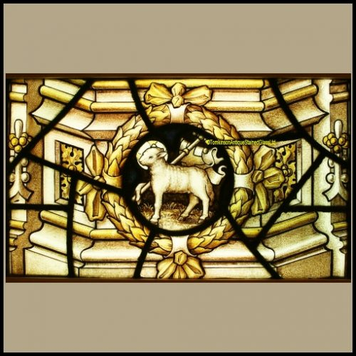 Lamb of God Stained Glass Panel