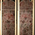 Antique church stained glass windows