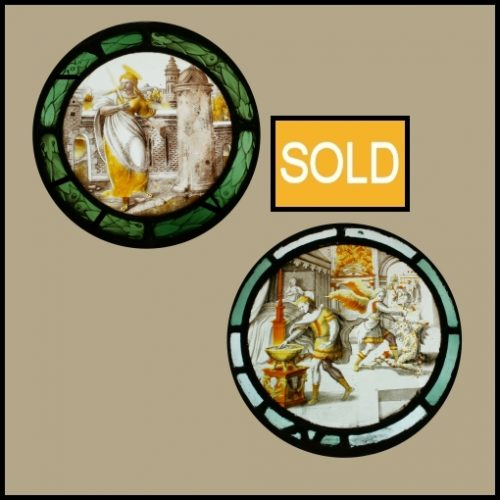16th century stained glass roundels