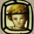 Cherub Putti Stained Glass Panel