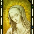 Madonna Stained Glass Panel