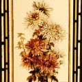 Chrysanthemum - Victorian Antique Stained Glass Window
