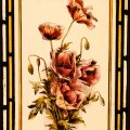 Poppies - Victorian Antique Stained Glass Window