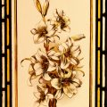 White Lilies - Antique Victorian Stained Glass Window