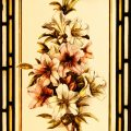 White & Pink Lilies - Antique Victorian Stained Glass Window